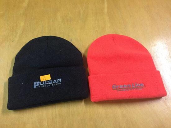 2 - WINTER HATS ORANGE & BLACK