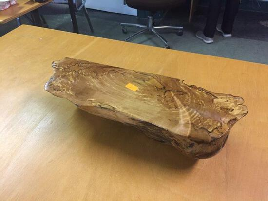 WOODEN BURL SHELF