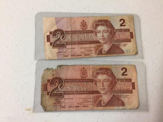 2 - 1986 $2 BILLS