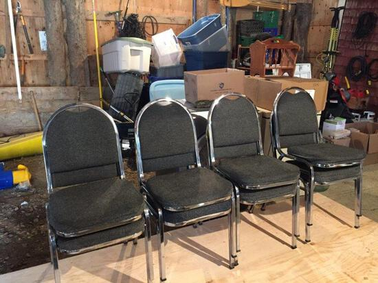 8 PADDED CHAIRS