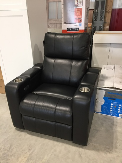 LEATHER RECLINING THEATRE CHAIR