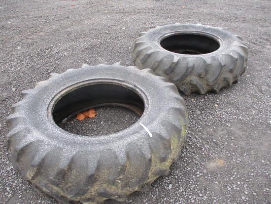 Pair Goodyear 16.9x28 Tractor Tires