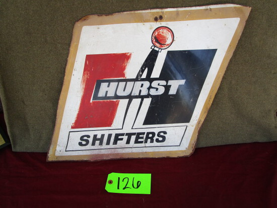 Hurst Shifters advertising sign