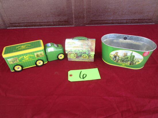 John Deere advertising tins