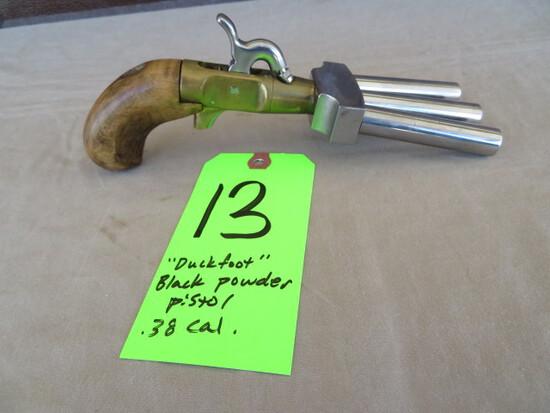 Duckfoot percussion pistol