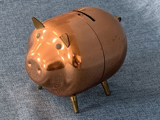 COPPER PIGGY BANK!