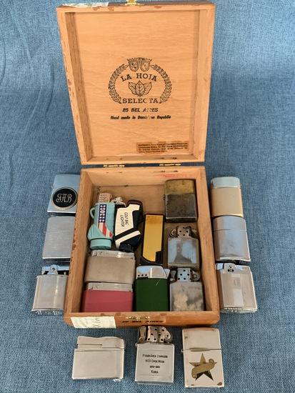 LA HOIA SELECTA CIGAR BOX FULL OF LIGHTERS!
