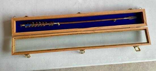 Native American Arrow in Oak Display Box