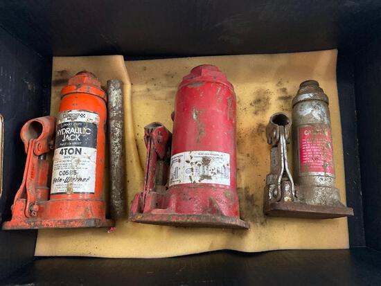 Bottle Jacks (3) and Gloves