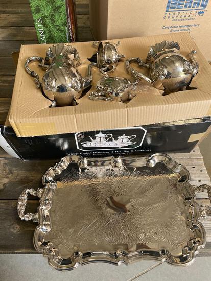 Silver-Plated 4 pc tea/coffee set