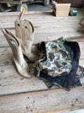 Hunting attire and cowboy boots (7 1/2 D - men?s)