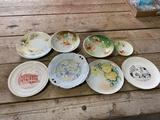 Glassware - painted plates