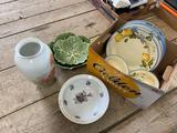 Glassware - plates, bows, serving-ware, vase
