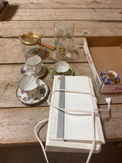 Cups/saucers, glassware, vacuum seal