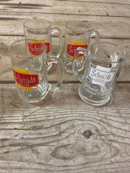 Schmidt beer glasses