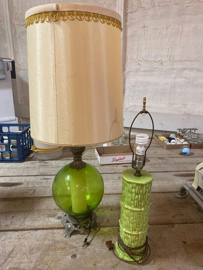 Vintage green lamps (2)