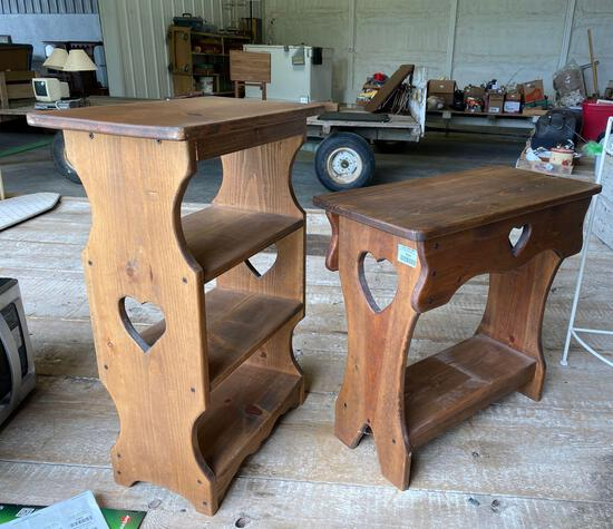 Wood stands (2)