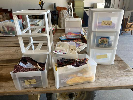 Storage drawers, fabric