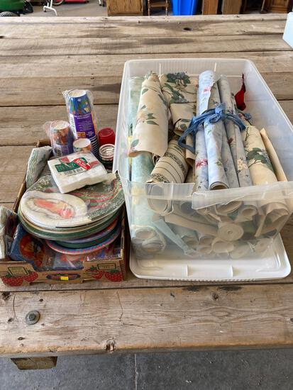 Christmas paper supplies, wallpaper