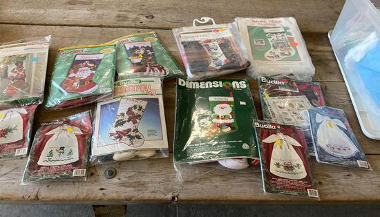 Crosstitch kits, needlepoint kits - mainly christmas