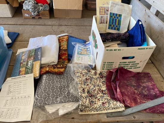 Quilting supplies, fabric