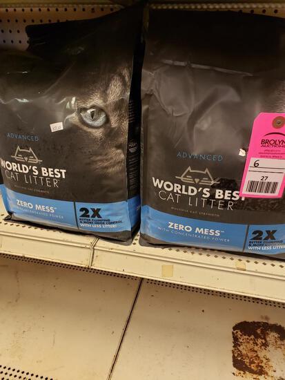 Qty 6 - Worlds best cat litter. New.