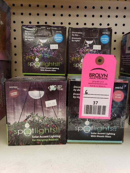 Qty 6 - boxes of solar accent lights. New.