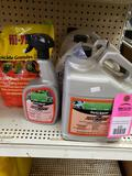 Qty 5 - Assorted lawn and garden treatment products. New as pictured.