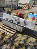 3 basis stainless steel sink.