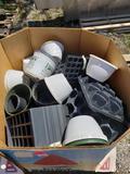 Gaylord of plastic pots, plant flats, etc.