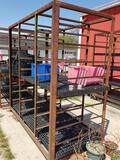 Heavy duty steel plant rack.