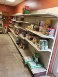 One wall of gondola shelving as pictured. (contents not included)