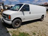 2000 Chevrolet 3500 cargo van. VIN 1GCHG39R311111090. Vortec V8 gas engine.