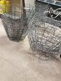 Large qty of wire baskets.