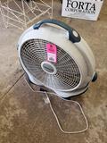 Wind machine fan.