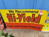 Hi-Yield advertising metal sign.