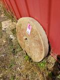Antique Grist mill grinding stone. Approx 24