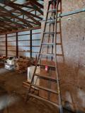 10' wood ladder.