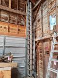 32' aluminum extension ladder.