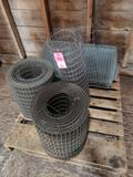 Qty 4 - Rolls of assorted wire fence.