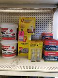Large assortment of rodent, flea, and fly killer, traps, etc. New.