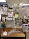 Lot of assorted bird feeder accessories. New.