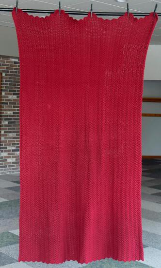 Rich Red Ripple Afghan