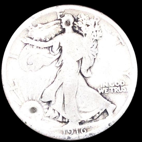 1916 Walking Half Dollar NICELY CIRCULATED