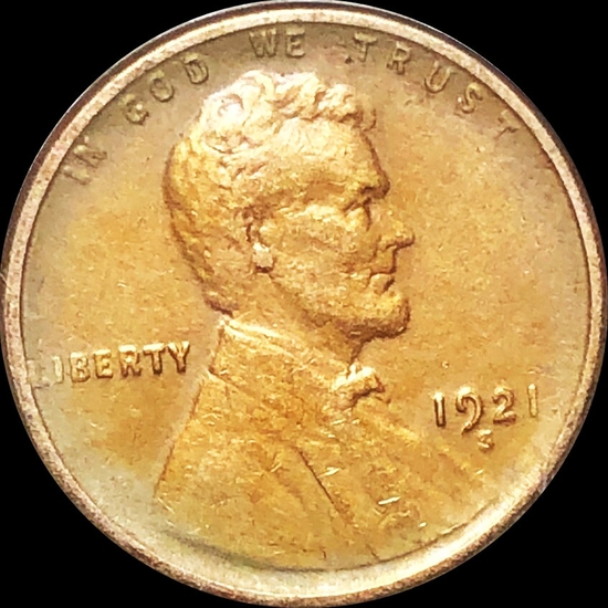 1921-S Lincoln Wheat Penny LIGHTLY CIRCULATED
