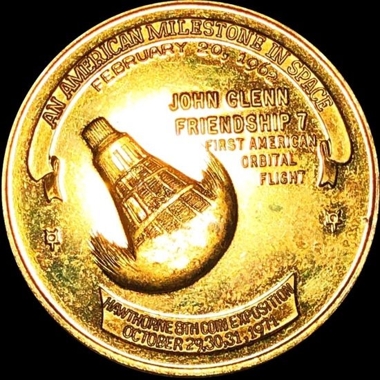 City of Hawthorne California Brass Coin PROOF