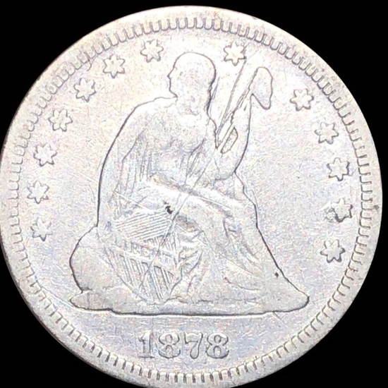 1878 Seated Liberty Quarter NICELY CIRCULATED