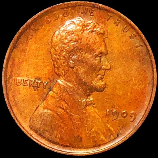 1909 Lincoln Wheat Penny NEARLY UNCIRCULATED
