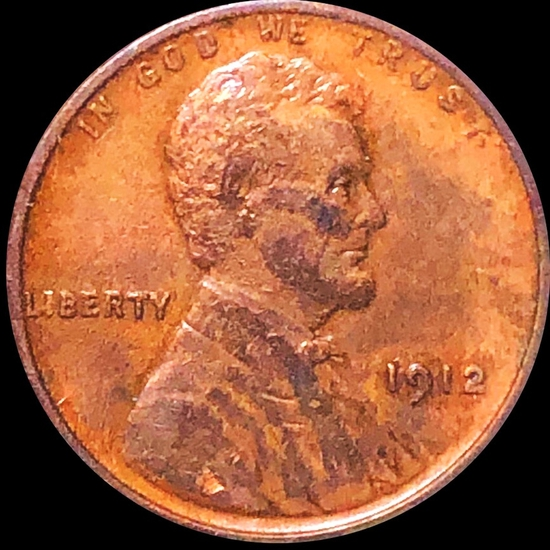 1912 Lincoln Wheat Penny ABOUT UNCIRCULATED