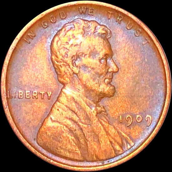 1909 V.D.B. Lincoln Wheat Penny ABOUT UNCIRCULATED